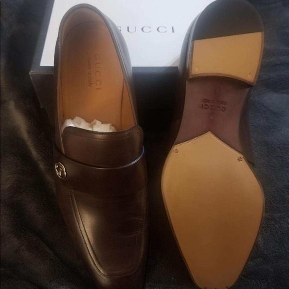 Chocolate Brown Gucci Broadwick Loafers